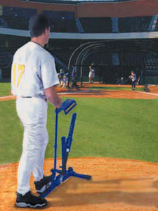 The Louisville Slugger Ultimate Pitching Machine